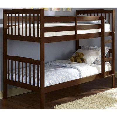 Деревянная Двухъярусная Кровать Джерри с Лестницей