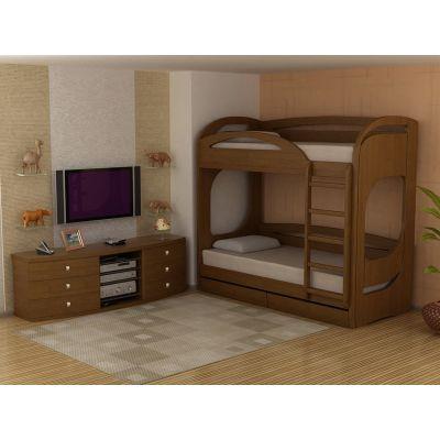 Двухъярусная Деревянная Кровать Шерон-2