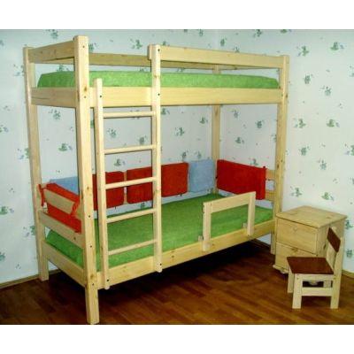 Двухъярусная Кровать Машенька из Натурального Дерева