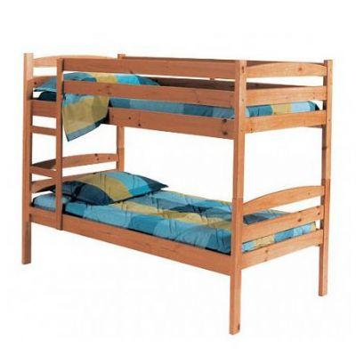 Двухъярусная Кровать Машенька-14 из Натурального Дерева с Лестницей