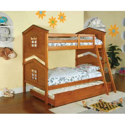 Двухъярусная кровать Теремок