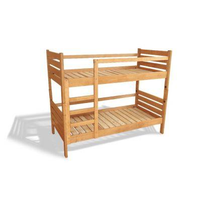 Двухъярусная Кровать Мелания из Натурального Дерева с Ламелевым Настилом