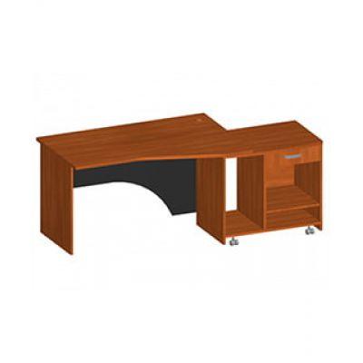 Офисный письменный стол с тумбой