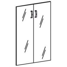 Стеклянные двери (2 створки)