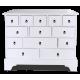 Комод 13 ящиков Белый с элементами декора