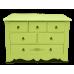 Комод Montagnarde Зеленый с росписью, фото 1, цена