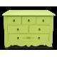 Комод Montagnarde Зеленый с росписью