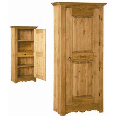 Шкаф для белья ВО 194 с резьбой на двери