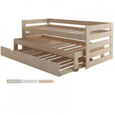 Двухъярусная Трехспальная Кровать Oriatami из Дерева