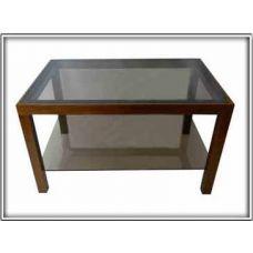 Журнальный столик со стеклянной столешницей Идеал