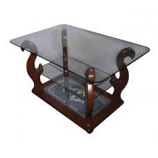 Журнальный столик со стеклянной столешницей Шедевр