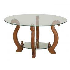 Журнальный столик со стеклянной столешницей Лидер