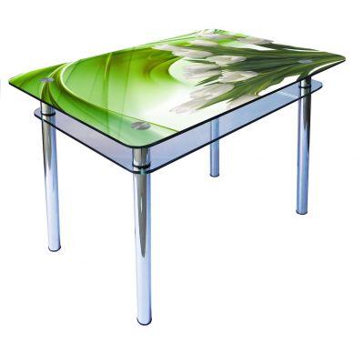Стол со стеклянной столешницей КС-1