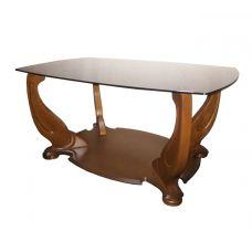 Журнальный столик со стеклянной столешницей Люкс