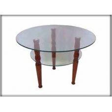 Журнальный столик со стеклянной столешницей Марс